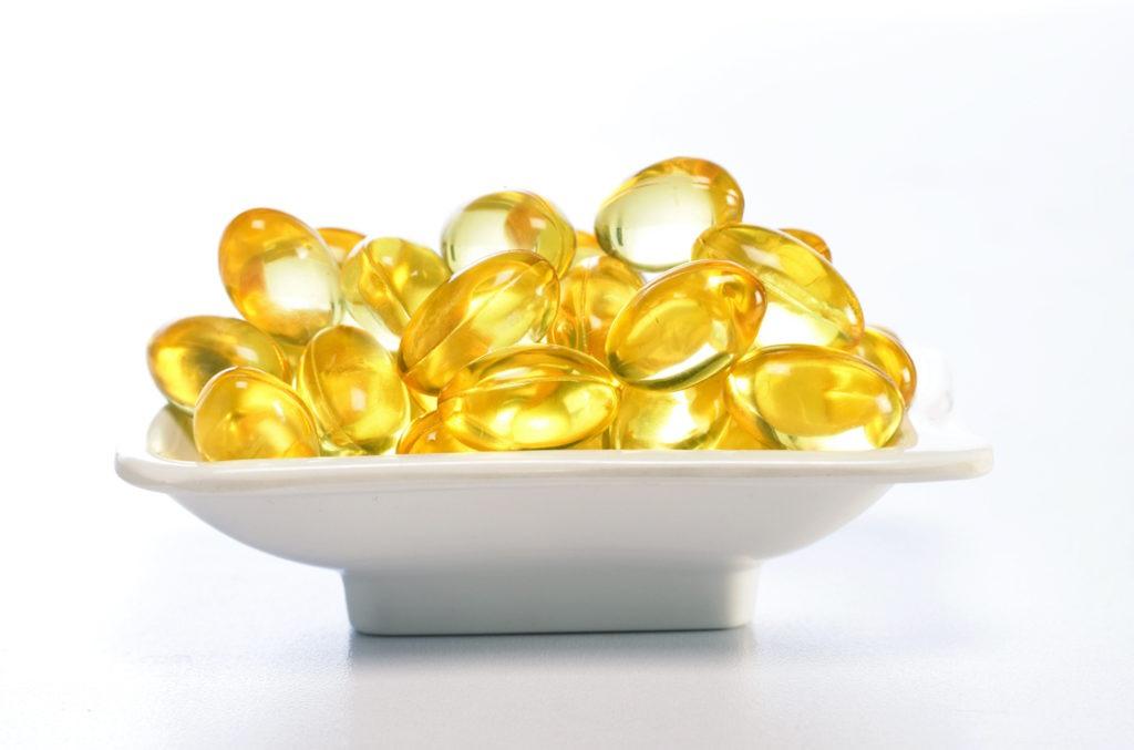 Wichtige Fett-Vitamine A, D, K, E sind wichtig bei einer Gallensäureverlustsyndrom Ernährung.