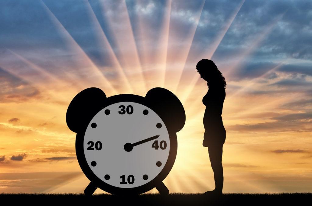 Wann ist das Alter der Menopause erreicht? Anfang 40.