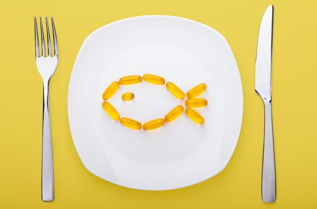 Das Fischöl enthält viel Omega 3 Fettsäuren - gut gegen polyneuropathie symptome