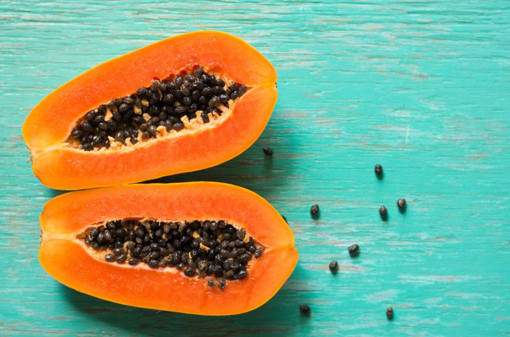 Papaya Kerne gegen Würmer im Darm
