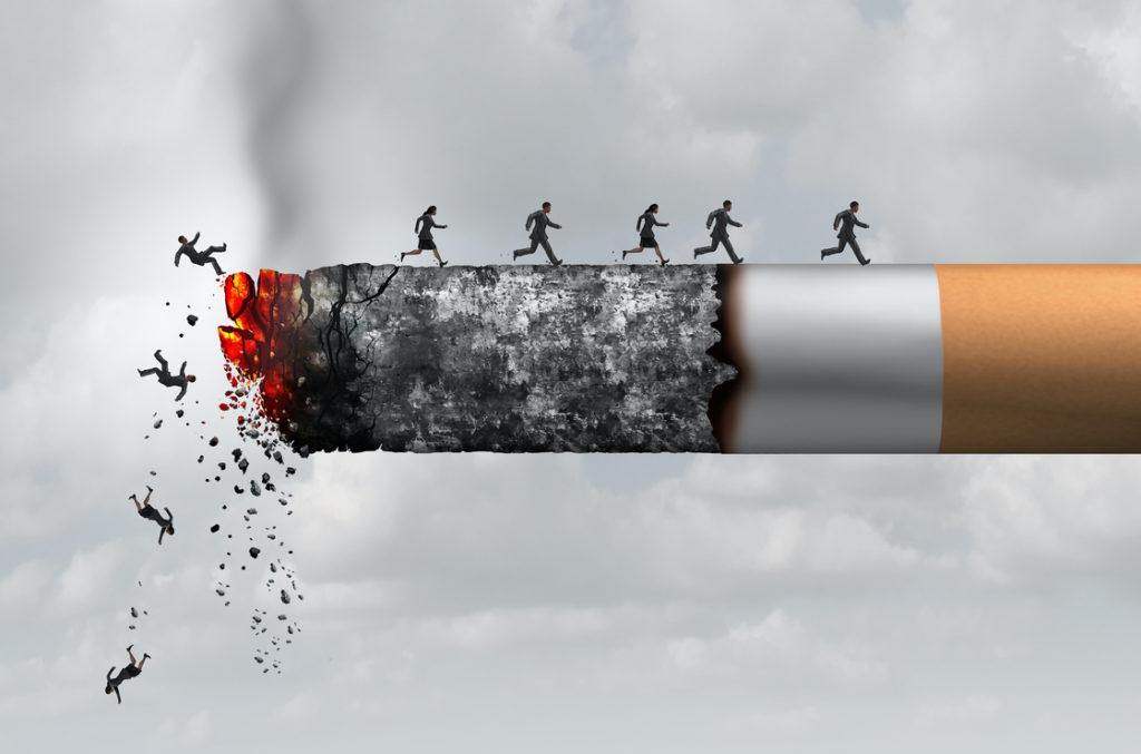 Jede Zigarette verkürzt das Leben